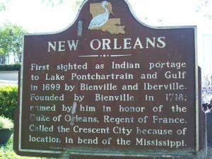 N.O. Historic Marker